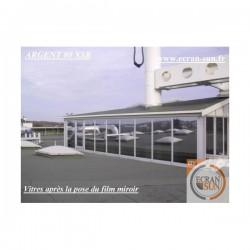 film solaire ARGENT 80 electrostatique (solaire miroir) vue alternative