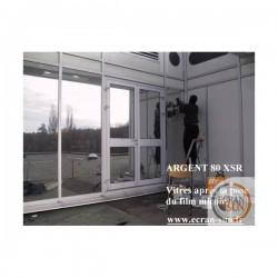 film solaire ARGENT 80 electrostatique (solaire miroir) vue annexe