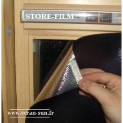 stores film solaire gaufré